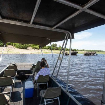 Chobe boating with Wildland safaris private cruise
