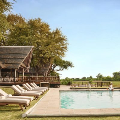 Khwai River Lodge - heated pool