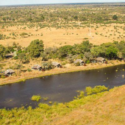 Kwando Lagoon aerial