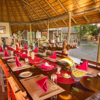 Kwando Lagoon dining area