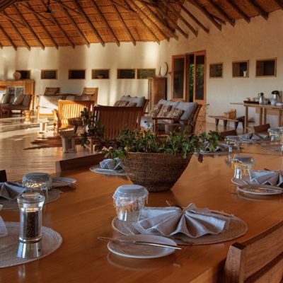 Kwando Nxai Pan dining area