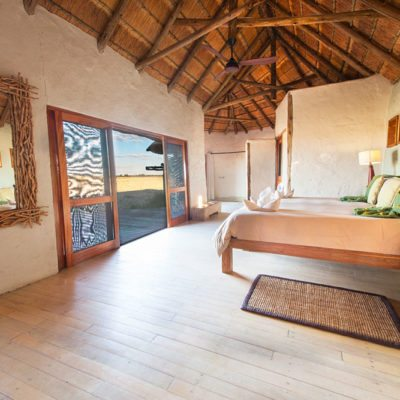Kwando Nxai Pan room inside with view