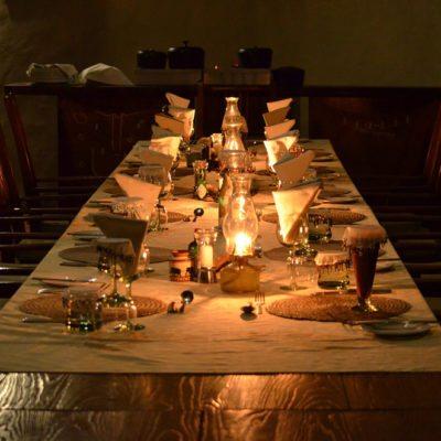 Kwando Tau Pan dining area evening