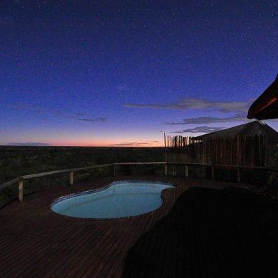Kwando Tau Pan pool evening