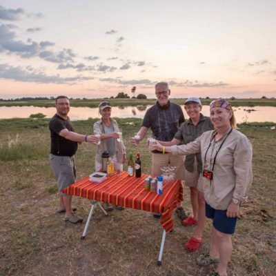 Sunset drink in delta site size