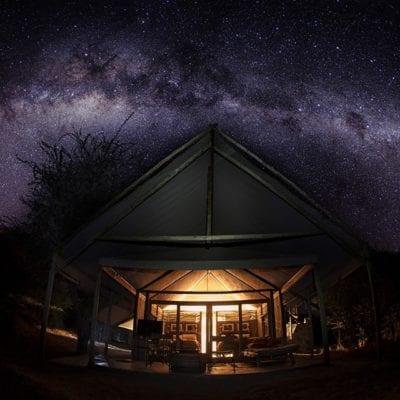 Meno a Kwena Tent and stars