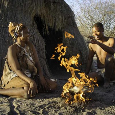 Bushman activity at Kalahari Plains
