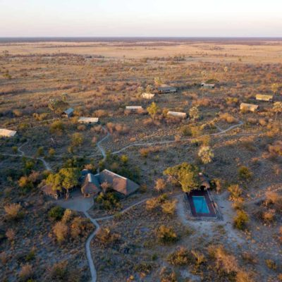 0Camp Kalahari - Arial layout of camp
